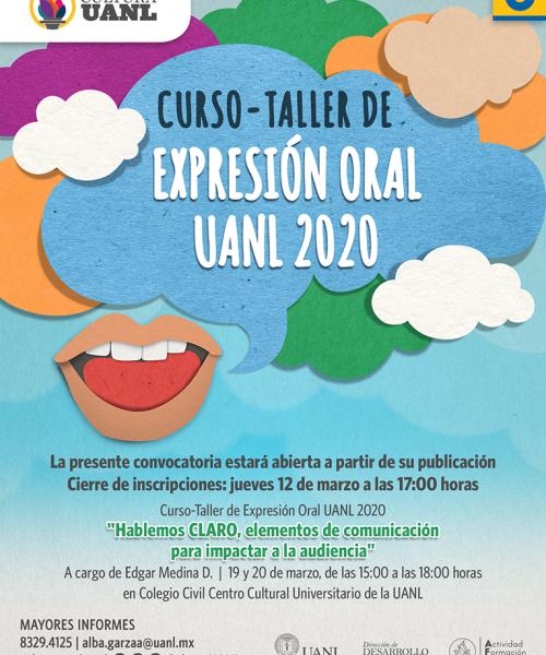 Webflyer Curso Taller Expresión Oral UANL 2020